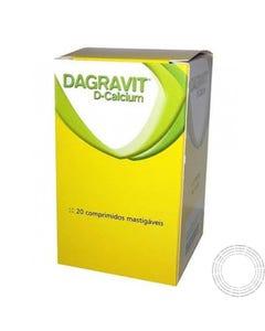 Dagravit D Calcium 20 Comprimidos Mastigáveis