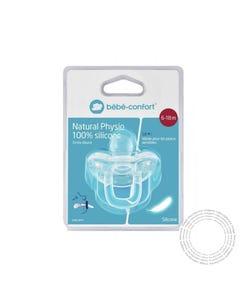 Bebe Confort Chupa Natural Physio 100% Silicone Azul/Lar 6-18m