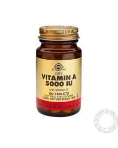 Solgar Dry Vitamin A 5000ui 100 Comprimidos