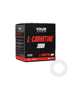 Your Nutrition L-Carnitine 3000 Laranja 20 Ampôlas Bevíveis