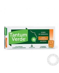 Tantum Verde Mel&Laranja 20 pastilhas