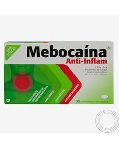 Mebocaína Anti-Inflam (1.2 mg + 3 mg) 30 Comprimido para chupar
