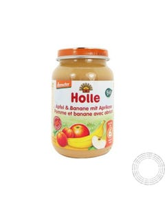 Holle Bio Boião Maçã Banana Alperce +6m 190G