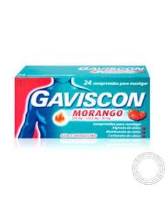 Gaviscon Morango 24 Comprimidos Mastigáveis