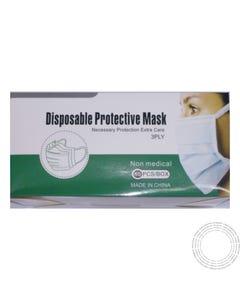 Máscara Cirúrgica 3ply c/elásticos Cx50