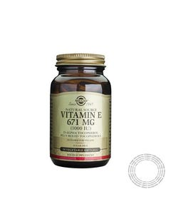 Solgar Vitamina E 1000UI 50 Cápsulas Vegetais