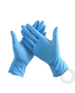 Luvas Nitrilo Azul M