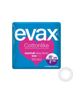 Evax Cottonlike Normal Abas 16 unidades