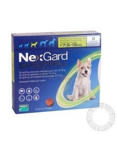 Nexgard Spectra Cão M 7,5-15KG  3 Comprimidos Mastigáveis