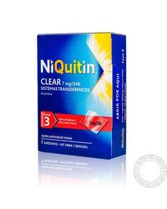 NiQuitin Clear (7 mg/24 h) 7 sistemas transdérmicos