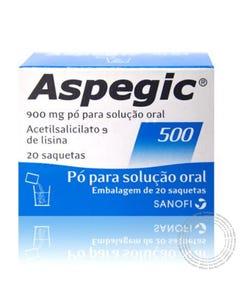 Aspegic 500 (900mg) 20 Saquetas Pó para Solução Oral