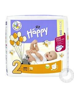 Fraldas Criança Happy (T2) 3-6Kg 78 Unidades