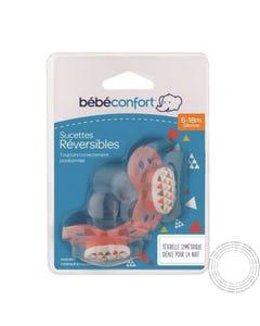 Bebe Confort Chupeta Reversivel Silicone 6-18M Sport Red 2 Unidades