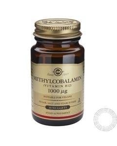 SOLGAR METILCOBALAMINA 1000MCG (VIT B12) SUBLINGUAL 30 COMP