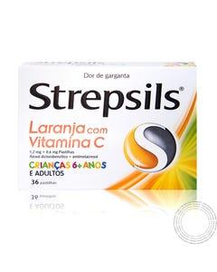 STREPSILS LARANJA C/ VIT C 24 PASTILHAS