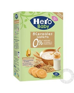 Hero Baby Papa Cereais C/Bolacha gc 500g