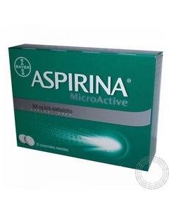 Aspirina Microactive 500mg 20 Comprimidos Revestidos