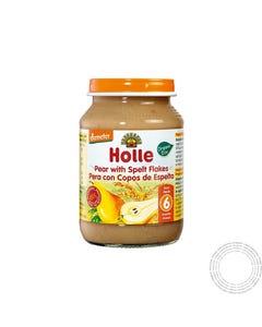 Holle Bio Boião Pêra e Flocos Trigo Espelta +6m 190G