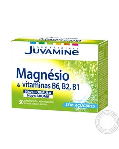 Juvamine Magnésio & Vitamina B6 B2 B1 30 Comprimidos Efervescentes