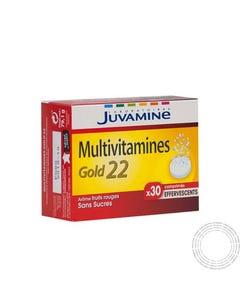 Juvamine Multivitaminas Gold 22 30 Comprimidos Efervescentes