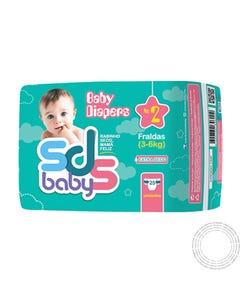 Fraldas SDS Baby T2 3-6Kg 25 Unidades