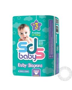 Fraldas SDS  Baby T3 4-10Kg 56 Unidades