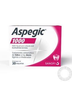 Aspegic 1000 (1800mg) 20 Saquetas Pó para Solução Oral