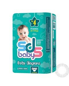 Fraldas SDS  Baby T4 9-15Kg 50 Unidades