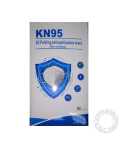 Máscara KN95 FFP2 Dobrável Cx50